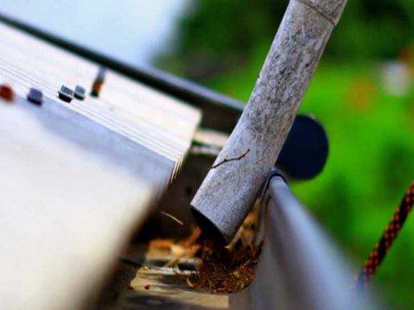 Gutter cleaning less expensive than replacement