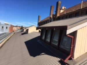 Gutter-Vac Orange – Gutter Clean and Roof Top Windows Cleaned for Commercial Clients.