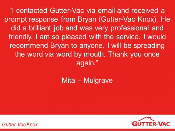 Another Happy Gutter-Vac Knox Customer !