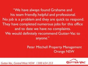 Another Great Review From A Property Manager For Gutter Cleaning In Orange NSW