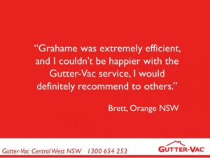It's great to receive testimonials like this from our Orange clients for gutter cleaning!