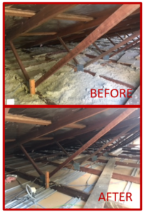 Gutter-Vac Cleaning Ceiling Cavities in Townsville