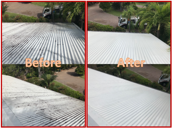 Pressure Washing Your Corrugated Iron Roof
