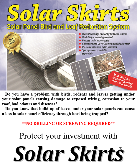 Don't Wait Until the Pigeons Move in, Have Your Solar Panels Birdproofed When They're Installed