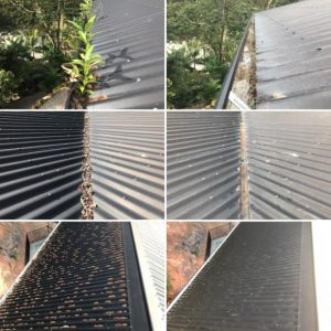 We Provide a Complete Roof and Gutter Report with Before and After Pictures