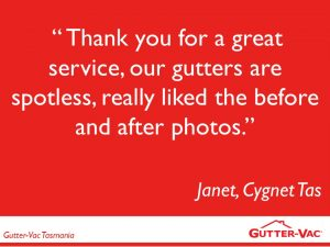 Another Great Gutter Cleaning Customer Review For Tasmania