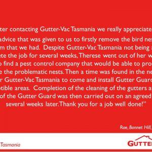 Gutter-Vac Tasmania Gutter Cleaning Customer Review