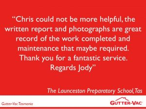 Launceston School Happy With Their Gutter Cleaning Service