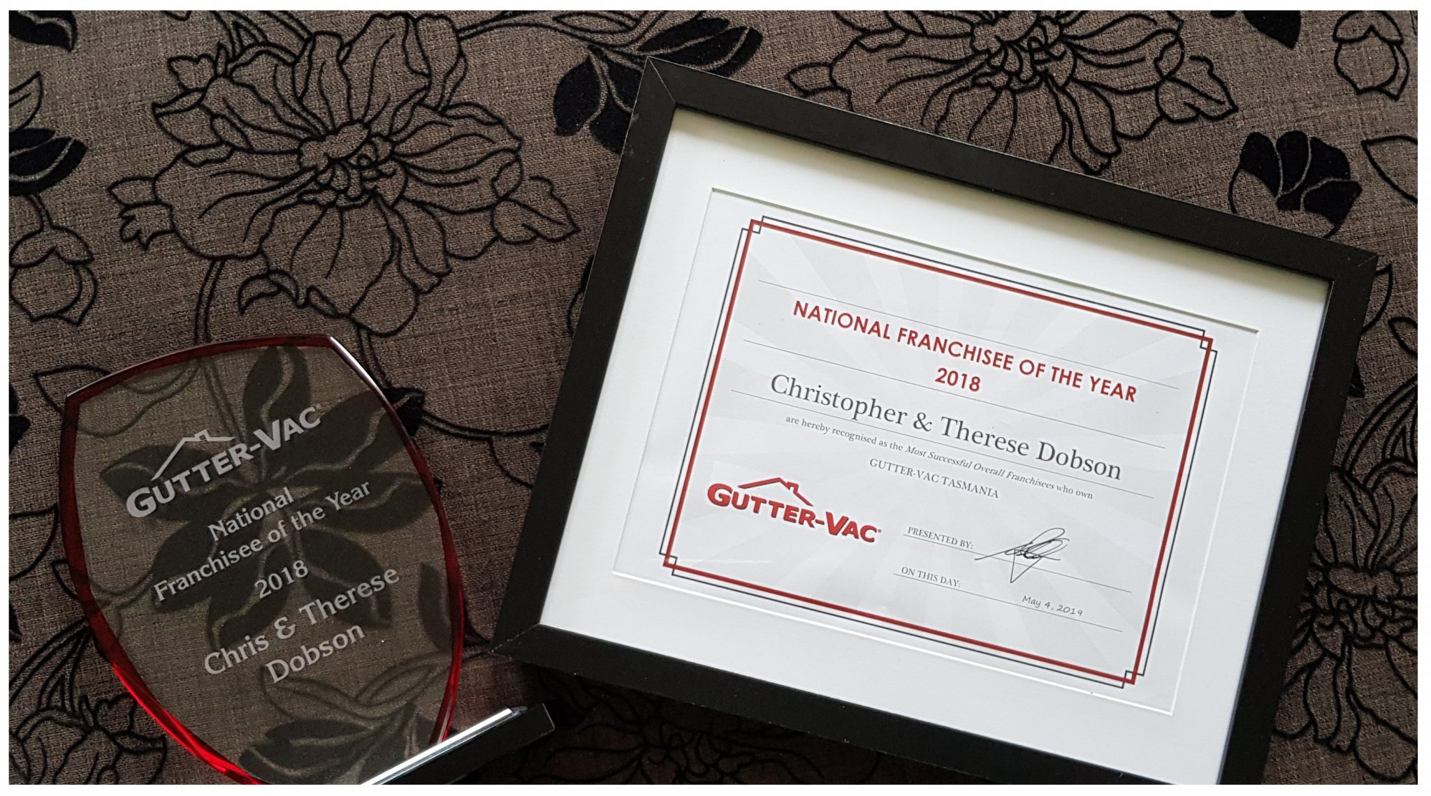 Gutter-Vac National Franchisee of the Year 2018 Award