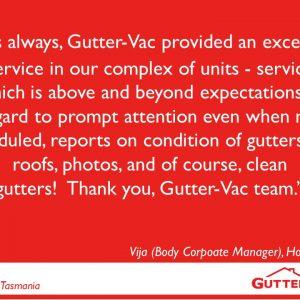 Hobart Gutter Vacuuming Service