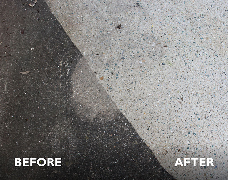 View the before and after results of our pressure cleaning service