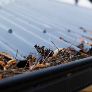 Clean gutters and fire prevention