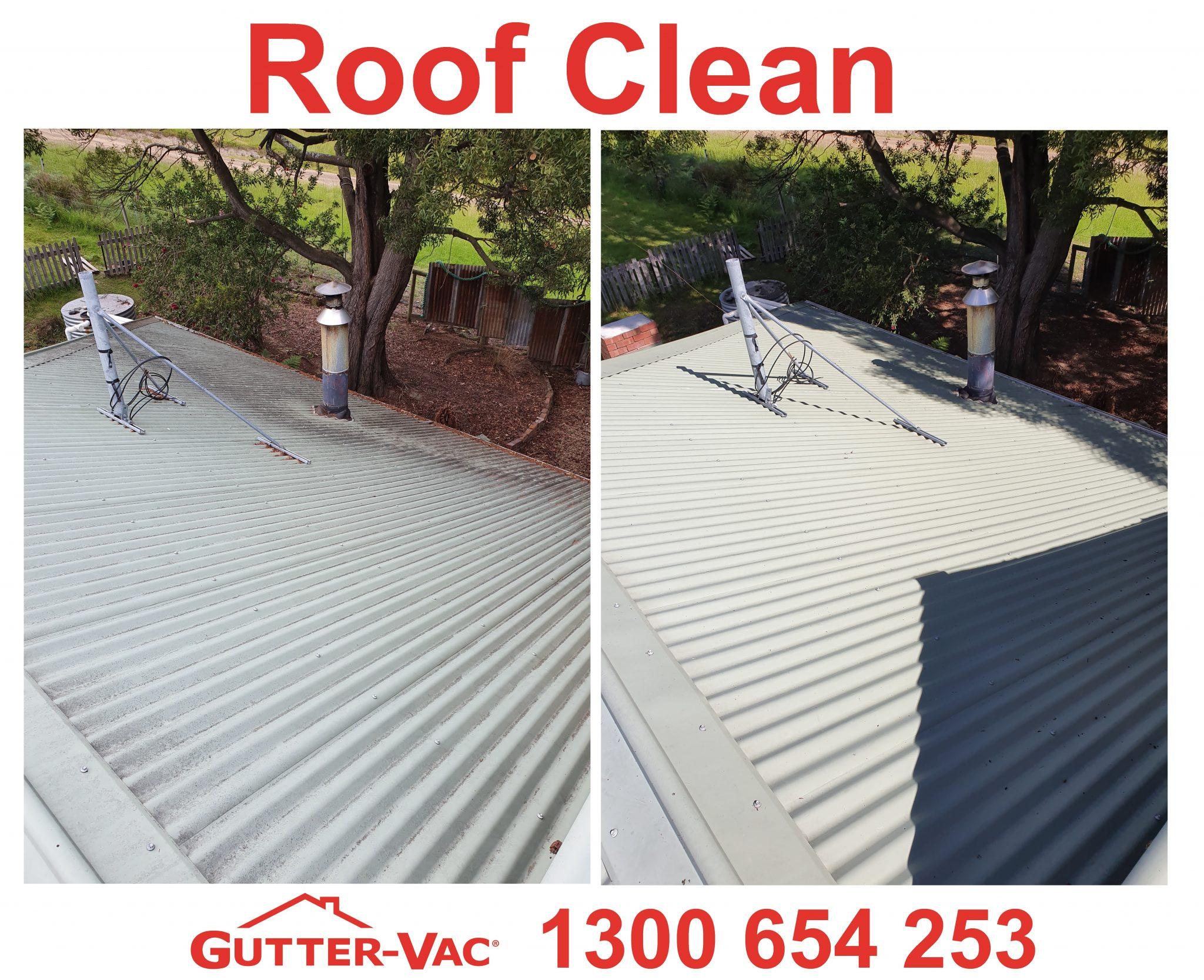 Roof  Cleaning at Gutter-Vac Tasmania