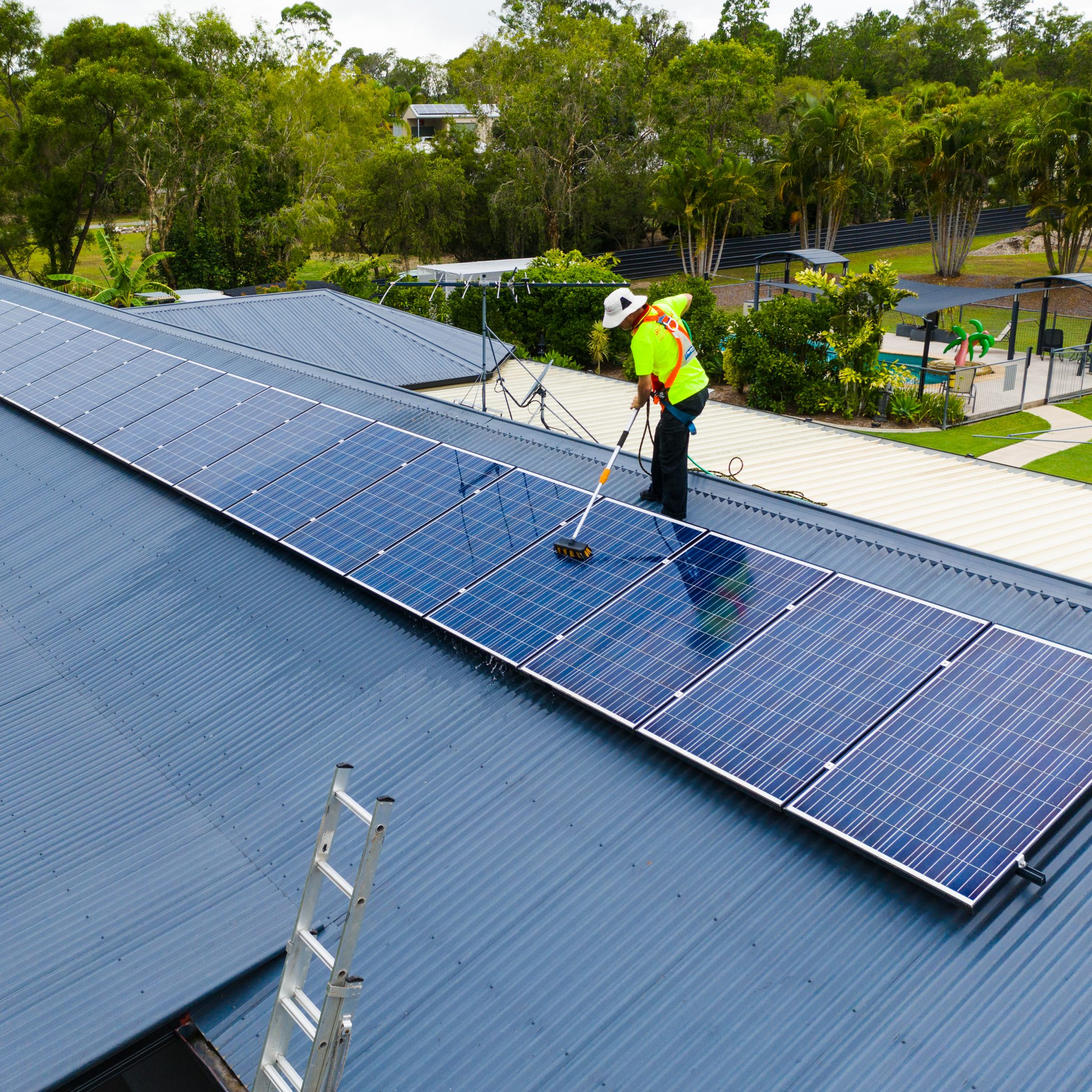 Clean solar panels are more energy efficient