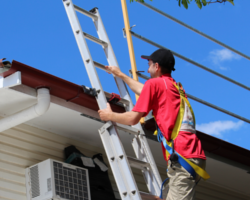 Did you know that most falls happen off a ladder, not the roof?