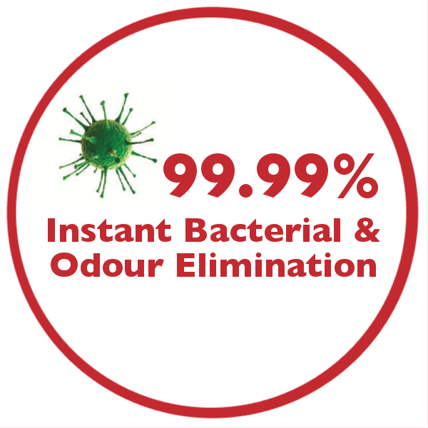 Disinfectant Solution that provides instant bacterial and odour elimination.