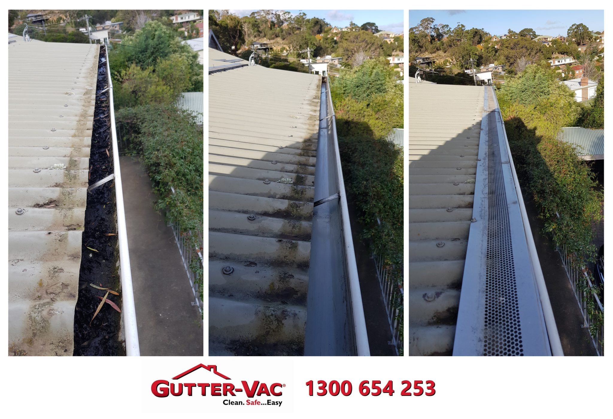 Gutter-Vac Tasmania Cleaning Under Gutter Guard