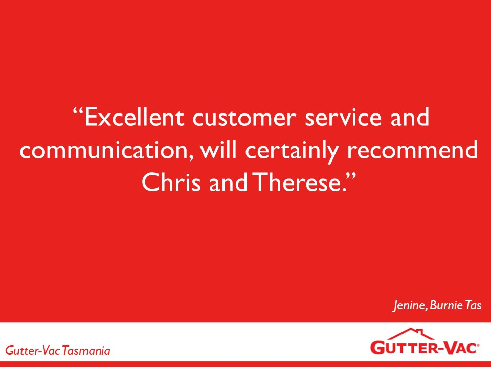 Great Reviews From Our Burnie Gutter Cleaning Customers This May