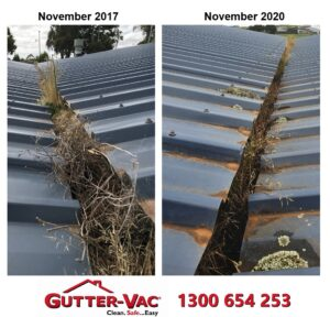 Gutter Clean After Three Years in Burnie