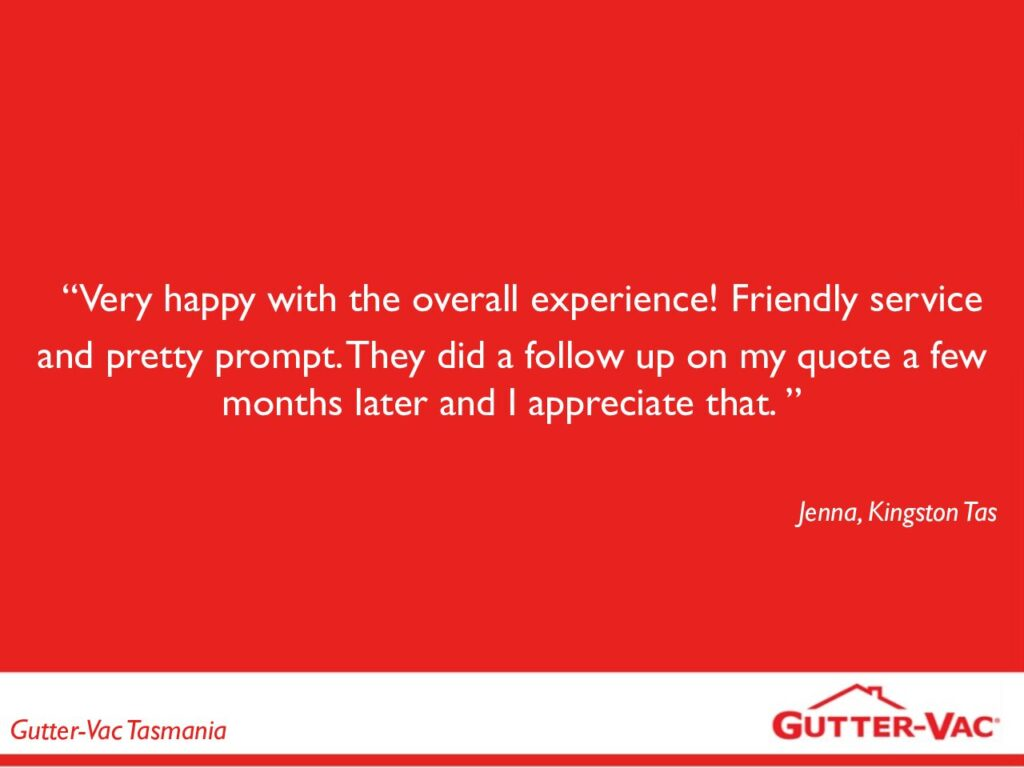 Jenna of Kingston, Another Happy Gutter Cleaning Customer